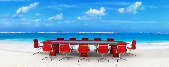 bord på stranden